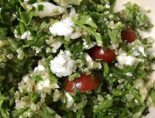 A Healthy Quinoa Tabbouleh Salad for Memorial Day
